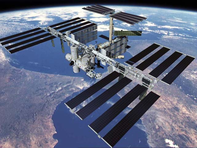 international space station in low earth orbit